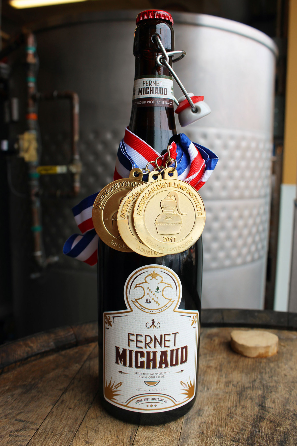 Fernet Michaud Bottle with Medals 2017
