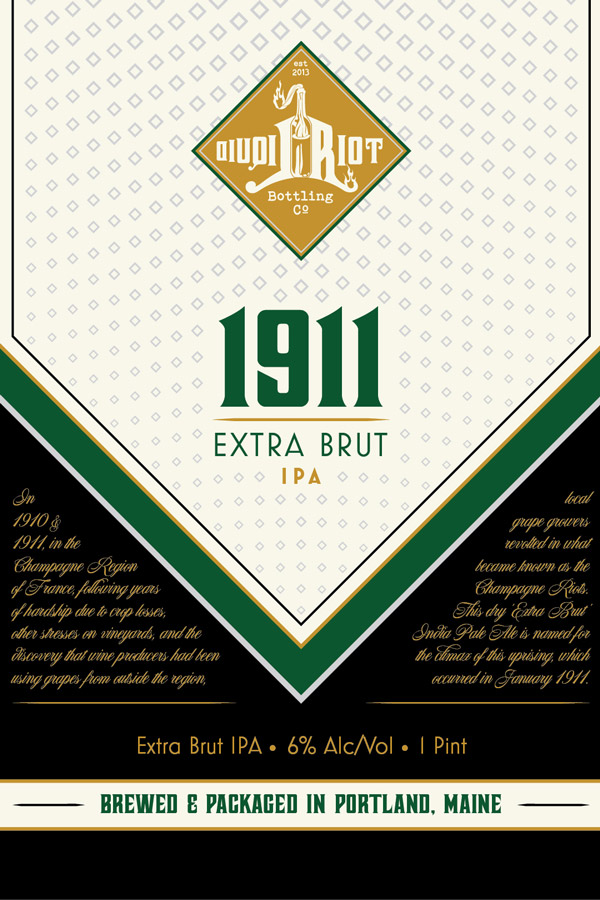 Liquid Riot – 1911 Extra Brut – Label