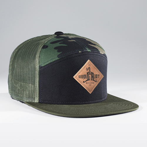 Liquid Riot – Black/Camo Trucker