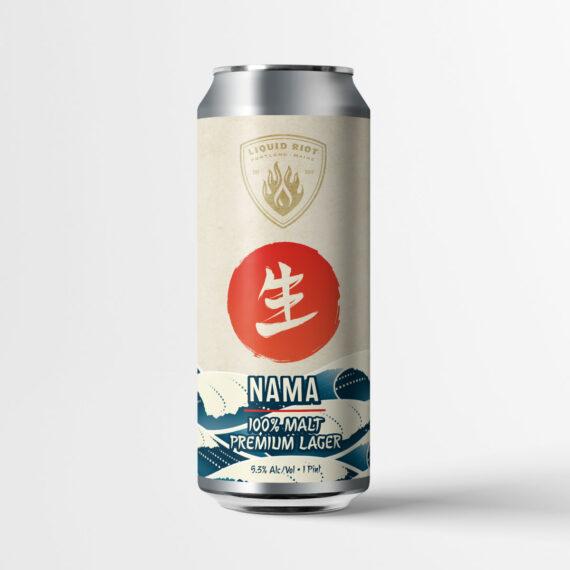 Liquid Riot – Nama – 100% Malt Premium Lager