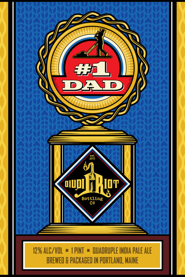 Liquid Riot – #1 Dad – Quadruple IPA