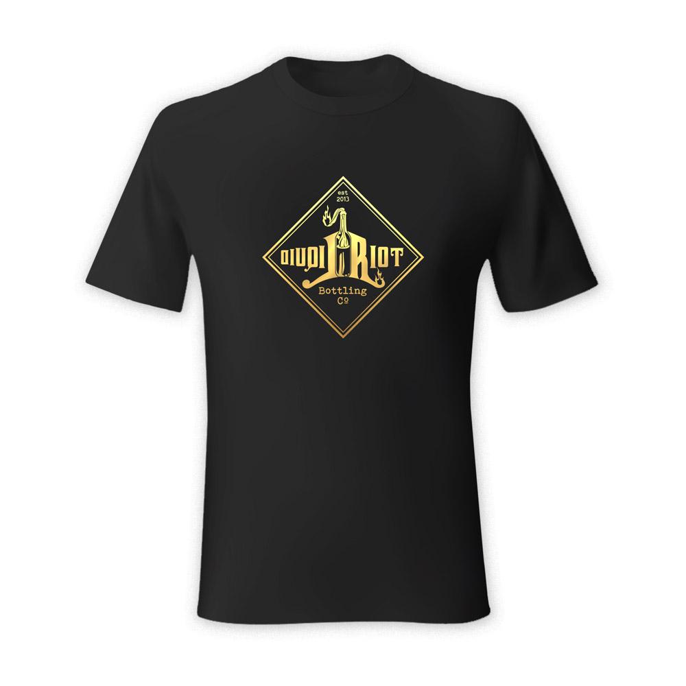 Liquid Riot Gold Logo T-Shirt