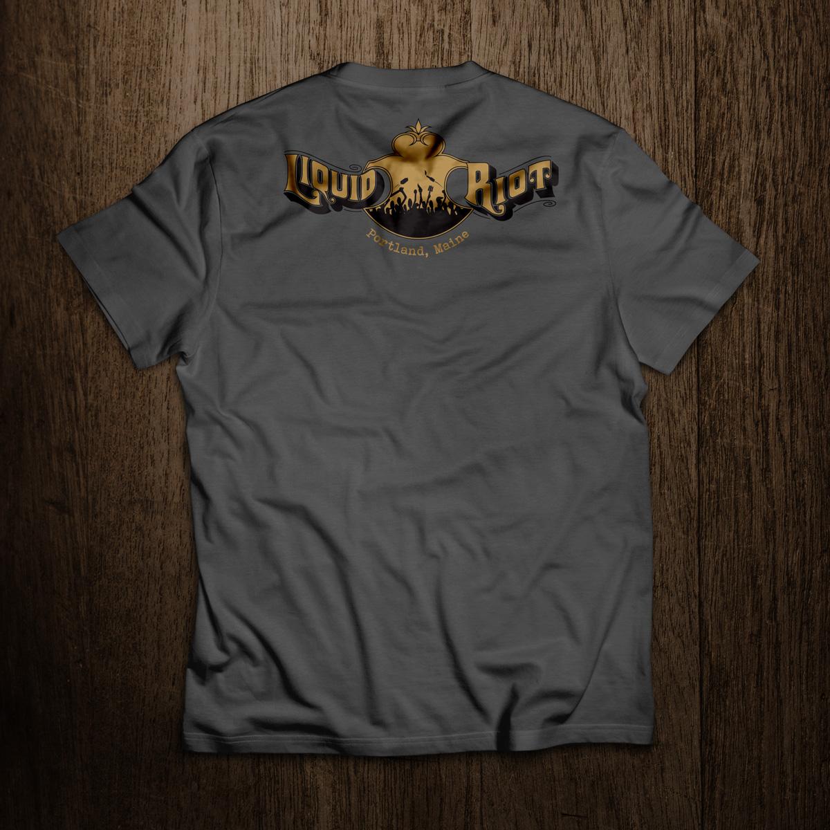 Liquid Riot Old Port Straight Bourbon Whiskey T-shirt (Back)